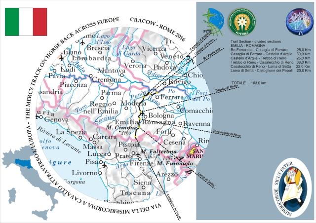 Mappa Regione Emilia-Romagna